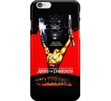 Army Of Darkness 80's Red and Black Design iPhone Case/Skin