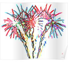 Psychedelic firework Poster