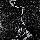 Moody Sax by Lynn Hughes