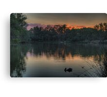Recollections -Murray River, NSW Australia - The HDR Experience Canvas Print