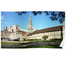 Chichester Cathedral and Grounds. Poster