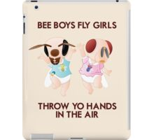 Bee Boys Fly Girls (with text) iPad Case/Skin