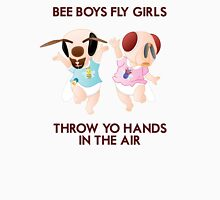 Bee Boys Fly Girls (with text) Unisex T-Shirt