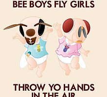 Bee Boys Fly Girls (with text) by woahjonny