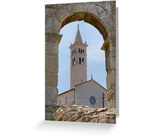 Church of St Anthony in pula Greeting Card