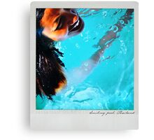 Smiling pool Polaroïd Canvas Print