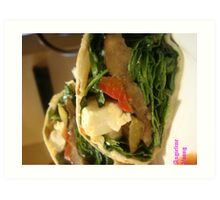 Vegetarian wrap from Dome Art Print