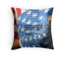 Tribute to Military Veterans Throw Pillow