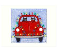 Festive Lights Red Bug Art Print