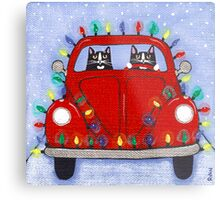 Festive Lights Red Bug Metal Print