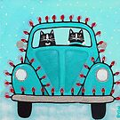 Festive Lights Teal Bug by Ryan Conners