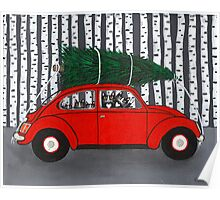 Bringing Home the Christmas Tree Poster