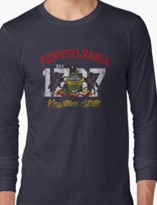 Vintage Pennsylvania Flag Keystone State Long Sleeve T-Shirt
