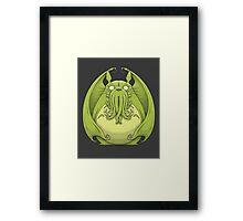 Totoro Cthulhu Framed Print