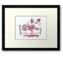 Giles' Doodle from Hush [Buffy the Vampire Slayer] Framed Print