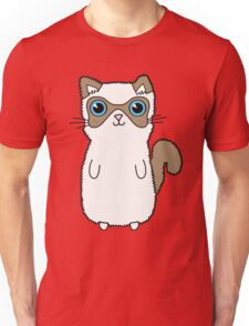 Brown and White Kitten with Blue Eyes Unisex T-Shirt
