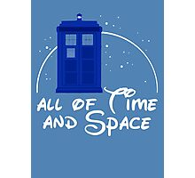 All of time and space #blue Photographic Print