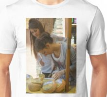 Cheese stall, Radicofani, Tuscany, Italy Unisex T-Shirt