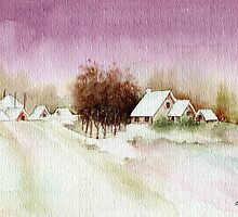 A BEAUTIFUL WINTER - AQUAREL by RainbowArt