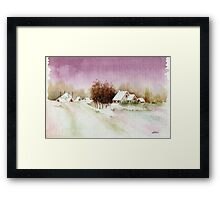 A BEAUTIFUL WINTER - AQUAREL Framed Print