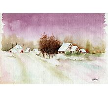 A BEAUTIFUL WINTER - AQUAREL Photographic Print