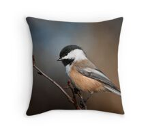Black Capped Chickadee Throw Pillow