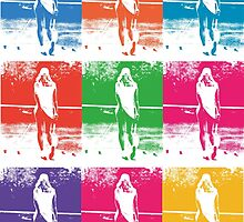 Multi Coloured Tennis Girl by davechaps