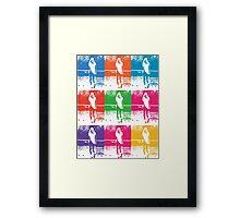 Multi Coloured Tennis Girl Framed Print