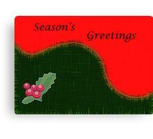 Christmas Card-Holly Canvas Print
