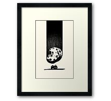 Trouble at Home Framed Print