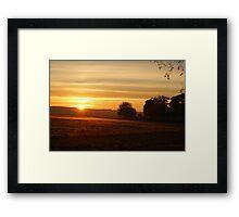 Stray sunrise Framed Print