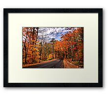 NH Autumn Road 4 Framed Print