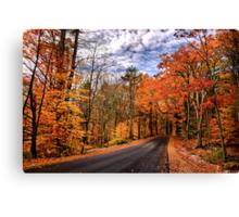 NH Autumn Road 4 Canvas Print