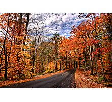 NH Autumn Road 4 Photographic Print