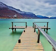 First snow around Annecy lake by Patrick Morand