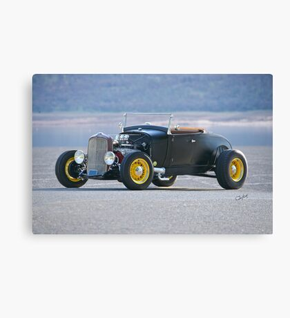 1929 Ford Model A 'Black Satin' Roadster Canvas Print