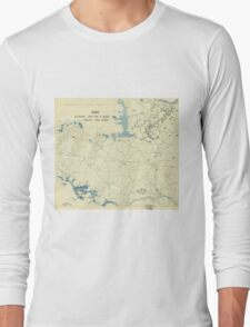 World War II Twelfth Army Group Situation Map August 8 1944 Long Sleeve T-Shirt