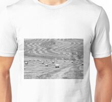 hay cutting patterns, Monticchiello, Tuscany, Italy Unisex T-Shirt