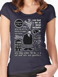Swanson Quotes Women's Fitted Scoop T-Shirt