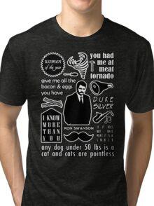 Swanson Quotes Tri-blend T-Shirt