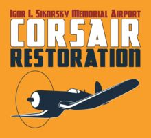 Sikorsky Memorial Airport Corsair Restoration T-Shirt
