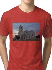 St Mary's Church Happisburgh Tri-blend T-Shirt