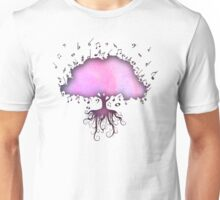 Watercolor Music Tree of Life Unisex T-Shirt