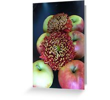 apples decorate chrythansmum double:)) Greeting Card