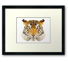 Low poly Tiger Framed Print