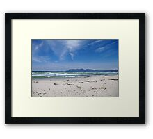 Empty Windswept Beach Framed Print
