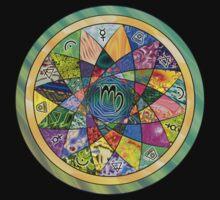 VIRGO Tapestry of Life Mandala by vickieverlie