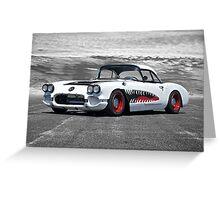 1958 Corvette 'Sharky' Roadster Greeting Card