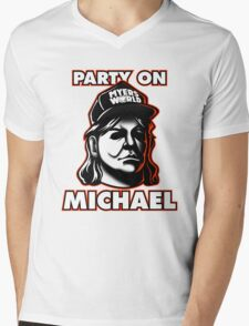 Party on, Michael! Mens V-Neck T-Shirt