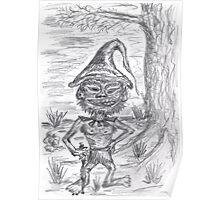 0613 - The old Goblin of the Woods with pointed hat Poster